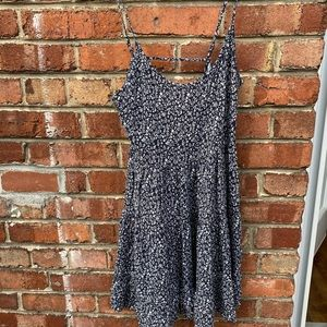 H&M Strap blue little dress with white flowers